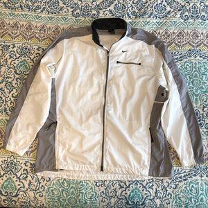 Nike white & gray windbreaker/ light jacket sz XL